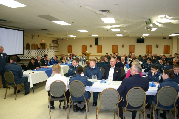 Mess dinner 2015 at Royal Canadian Legion Branch 95 Smiths Falls (Photo by S. Mayne)