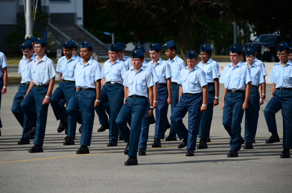 Cadets on parade.