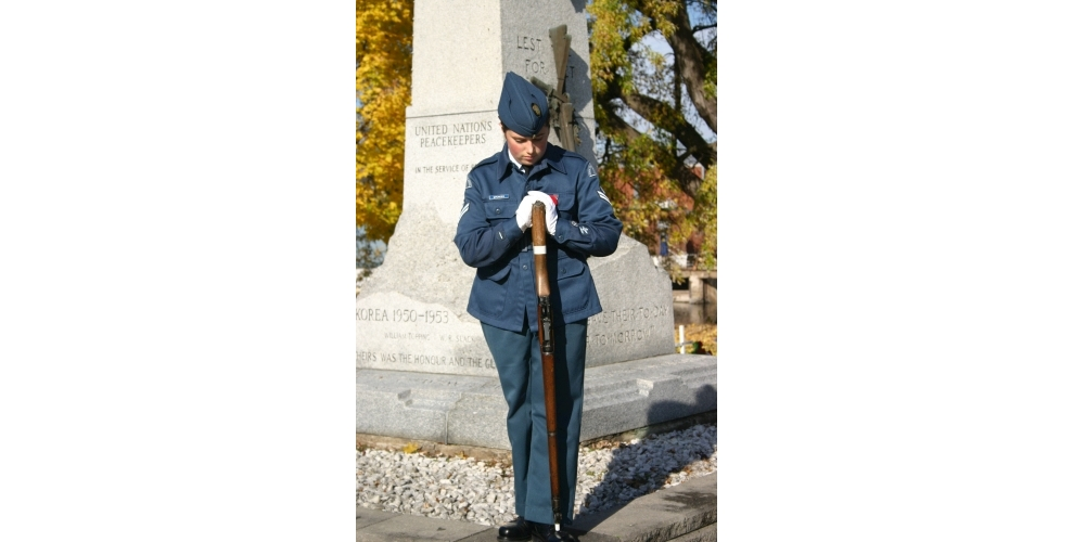 Remembrance Day sentry