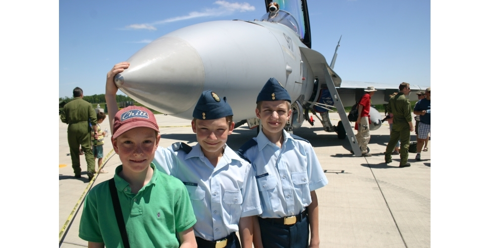 Cadets at Trenton Open House