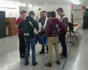 2017 Squadron Drumline under instruction (2)